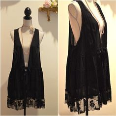 Black Oversized Lacy Shabby Chic Lagen Look by LulusCollection, $39.00