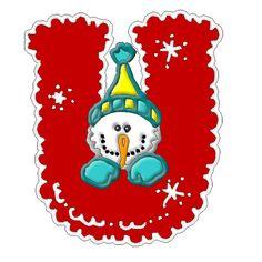 *✿**✿*U*✿** Christmas Alphabet, Christmas Clipart, Christmas Themes, Christmas Crafts, Xmas, Christmas Ornaments, Holiday Decor, Frosty The Snowmen, Snowman