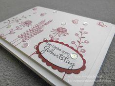 """geburtstagskarte mit """"flowering fields"""""""