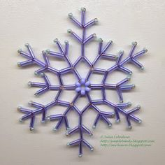 Beading for the very beginners: Snowflake of bugles
