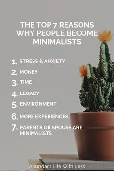Read about the top 7 reasons why people become minimalist | How to become a minimalist | Minimalism for families