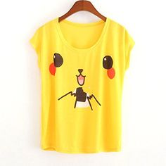 42ad1050 New women's wear women's Pikachu printing T-shirt in summer Loose shirt  collar Size *
