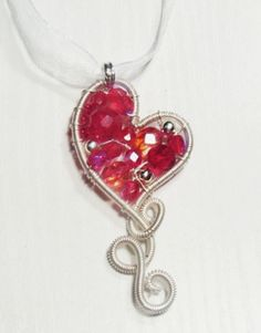 A collection of wire heart jewelry tutorials