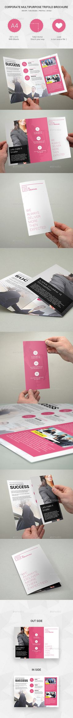 Businss Trifold Brochure Template #design #printdesign Download: http://graphicriver.net/item/businss-trifold-brochure-13/12090735?ref=ksioks