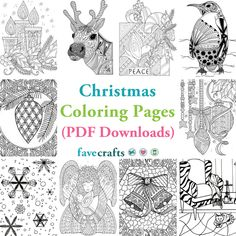 29 Christmas Coloring Pages (Free PDFs) Free Christmas Coloring Pages, Printable Adult Coloring Pages, Free Coloring Pages, Coloring Books, Colouring, Easy Christmas Crafts, Simple Christmas, Christmas Ideas, Happy Colors