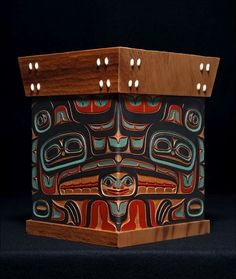 Lovebirds (Eagle and Raven) Bentwood Box. Artist Israel Shotridge.