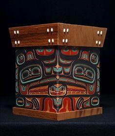 Lovebirds (Eagle and Raven) Bentwood Box. Artist Israel Shotridge.
