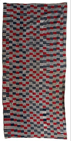 Ewe, Ghana, men's cloth, early to mid C20th. Unusual variant on weft-faced style.