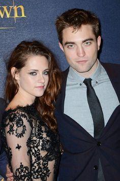 Robert Pattinson and Kristin Stewart at event of The Twilight Saga: Breaking Dawn - Part 2