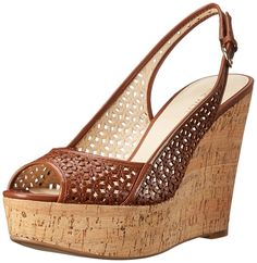 Nine West Women's Axey Leather Wedge Sandal *** Amazing product just a click away  : Platform sandals