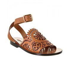 107b1dd29582 Chloe Kelby Cut Out Leather Sandal