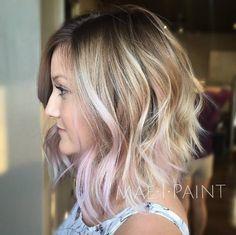 Pink blonde balayage by Marissa Mae Neel
