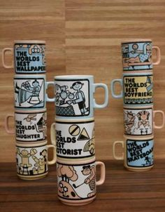 Humorous Mugs - Lawson Park Ceramic Mugs, Vintage Ceramic, Ceramic Pottery, Coffee Snobs, Coffee Mugs, Pottery World, Fade Up, Hornsea Pottery, Hand Thrown Pottery