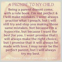 A promise to my kids!