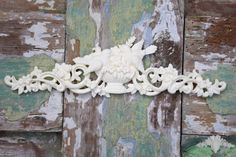 Romantic Bird with Urn & Scrolls  Furniture Appliques Shabby Chic Mouldings Onlay Trim Embellishment Vintage by ChicMouldings on Etsy https://www.etsy.com/listing/203110894/romantic-bird-with-urn-scrolls-furniture