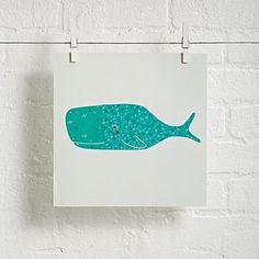 Unframed Under the Sea Wall Art (Whale)  | The Land of Nod