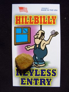 Hillbilly Keyless Entry White Trash Novelty Gag Gift Lot (5) Funny Joke ...