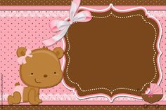 convite+ursinha+rosa+e+marrom.jpg 1,600×1,066 pixeles