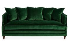 Pretty Olive Green Couch Sofa Set Club For Design Living Room Impressive Olive Green Sofa All About Sofa Design and Decorating Ideas Sofa Green, Emerald Green Couch, Green Velvet Sofa, Emerald Green Decor, Living Room Green, Green Rooms, Living Room Sofa, Living Spaces, Velvet Sofa Bed