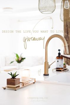 This faucet is so gorgeous! Enter your email for a chance to win a champagne bronze faucet from @DeltaFaucetCan