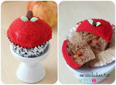 Pint Sized Baker: Apple Filled Spice Cupcakes