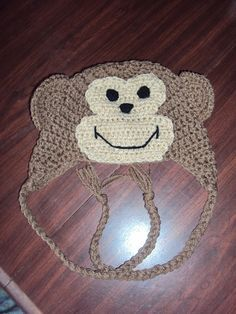 Monkey Hat free pattern    Made this for Mogie. Great pattern!  I can't wait to try it on him.  I used a darker brown for the base.
