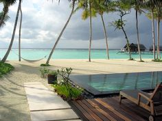 hammock on the beach wallpaper | images of beach beautiful clouds cool hammock houses lounge maldives ...