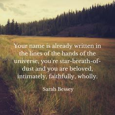 You're already so loved :: Sarah Bessey