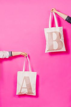 Alphabet Bags Rose Gold totes. Photography by Marianne Taylor. Book  Photography, Fashion Photography 33c36a624de