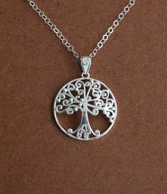 Tree of Life pendant (sterling) - Xmas gift for my sister-in-law to match her tattoo.  From seller jersey608 on Etsy, $42