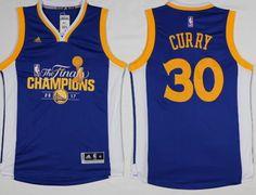 c0933f6cb Warriors  30 Stephen Curry Blue 2017 NBA Finals Champions Stitched NBA  Jersey