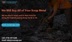 Metals are quiet lucrative as it carries 100 percent recycling properties whether it is ferrous or non ferrous both are fully recycling elements. CCC Scrap provides metal recycling service in New York City. Scrap Recycling, Manhattan City, Recycling Services, Metal Prices, Circuit Board, Long Island, Metals, Yards, Copper Wire