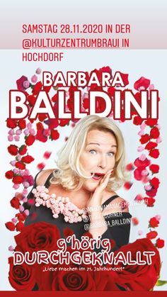 Barbara Balldini mit der neuen Show im November 20 in der Schweiz Open Air, November, Events, Movies, Movie Posters, Girl Interrupted, Best Husband, New Books, Short Stories