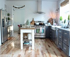 Simple Christmas Decorating in the Kitchen - The Inspired Room Christmas House Tour @The Inspired Room