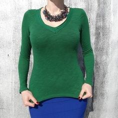 I just discovered this while shopping on Poshmark: Green cotton T-shirt.. Check it out! Price: $15 Size: XS
