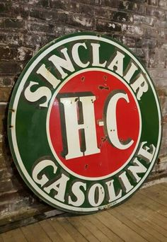 Porcelain Sinclair HC Gasoline Sign