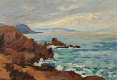 Armand Guillaumin - Soleil couchant, le Trayas-Agay 1913