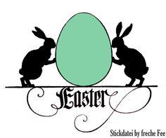 Stickdatei+*+Easter+*+++Scherenschnitt+Hasen+Ei+von+die+freche+Fee+auf+DaWanda.com