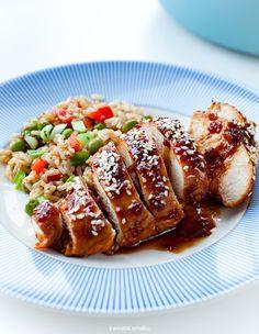 Filety z kurczaka w sosie teriyaki