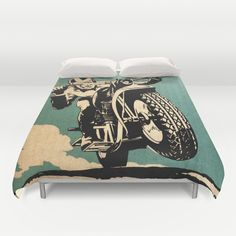 """""""Motorcycle Race"""" Duvet Cover by Fernando Vieira on Racing Motorcycles, Twin Xl, My Room, My Dream Home, Baby Love, Duvet Covers, Venice"""