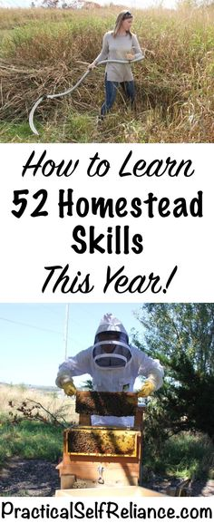 How to Learn 52 Homestead Skills This Year - HomeSteading Ideas 2019 Homestead Survival, Homestead Farm, Survival Prepping, Survival Skills, Homestead Living, Wilderness Survival, Survival Shelter, Survival Food, Emergency Preparedness