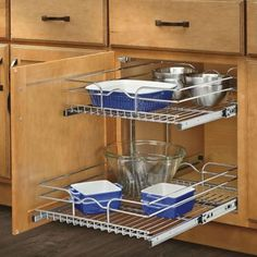Rev A Shelf 5wb2 1822 Cr 18 In W X 22 D Base Cabinet Pull Out Chrome 2 Tier Wire Basket