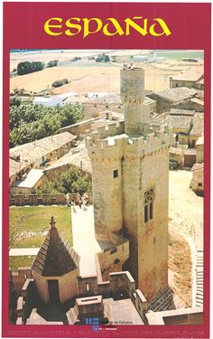 #Olite es la pequeña #joya de #Navarra y esta a unos 42 #kilometros de #Pamplona. Es el protagonista de un #cartel de #turismo de España del año 1979 / #Spain #travel #turismo