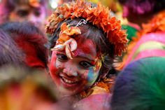 """Day 83 """"Holi: A Colorful Celebration of Joy"""" Happy Holi! Let the colors of Holi spread the message of peace and happiness. #positivity365 #positivity #Holi #joy #peace #happiness #celebration #spring kurilane.com"""