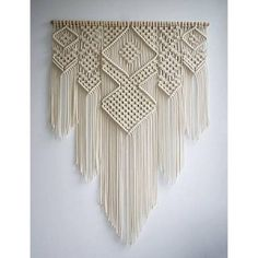 New Elegant Macrame Bohemian Tapestry Wall Hanging Chic Geometric Art Handicrafts Woven Tapestry For Home Living Room Decoration on AliExpress Bohemian Wall Tapestry, Bohemian Wall Decor, Tapestry Bedroom, Bohemian Nursery, Large Macrame Wall Hanging, Tapestry Wall Hanging, Wall Hangings, Rideaux Boho, Cotton Rope