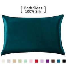 YANIBEST 100% Mulberry Silk Pillowcase for Hair and Skin with Hidden Zipper - 19Momme Charmeuse Hypoallergenic 1pc 50 x 75 cm: Amazon.co.uk: Kitchen & Home
