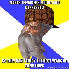 Scumbag God via Meme Generator