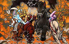 #Art #Poster: The 4 Horsies Of Apocalypse Print Edition http://ift.tt/1reZgJE (via @zedign)