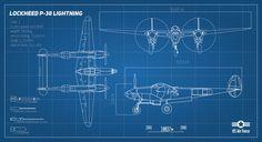 Lockheed P-38 blueprint