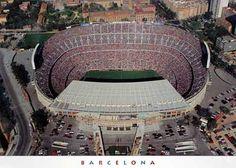 Camp Nou from above Sitges, Camp Nou, Fcb Barcelona, San Jose Sharks, Best Player, Club, Messi, Nhl, Places To Visit